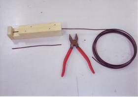 針金加工補助具(決まった長さに切る・丸める等)