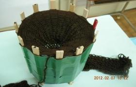 マフラー編み機